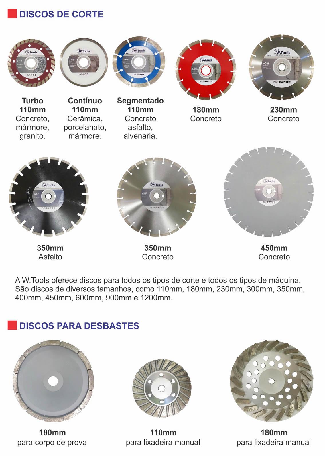 Discos diamantados em Curitiba
