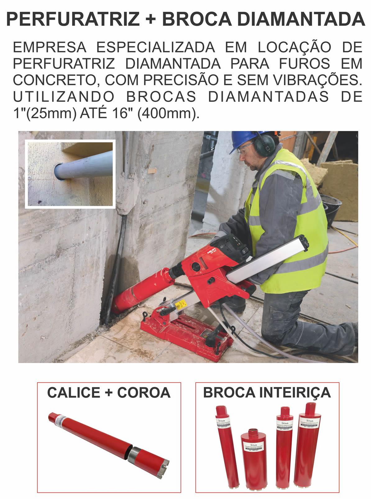 Locação de perfuratrizes de concreto em Curitiba